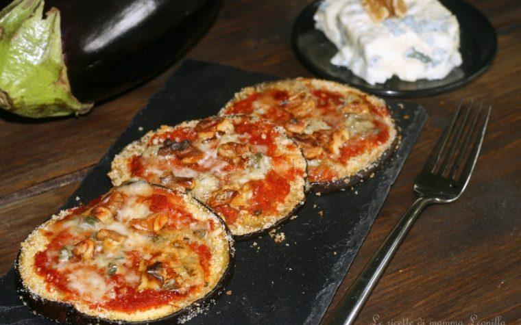 MELANZANE ALLA PIZZAIOLA GORGONZOLA E NOCI, ricetta al forno