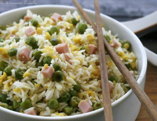 RISO ALLA CANTONESE , ricetta piatto unico orientale