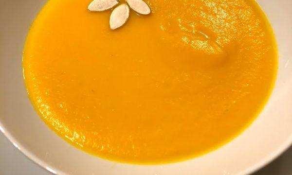 Vellutata di carote e arance speziata allo zenzero