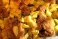 Cosce di pollo croccanti al forno con patate