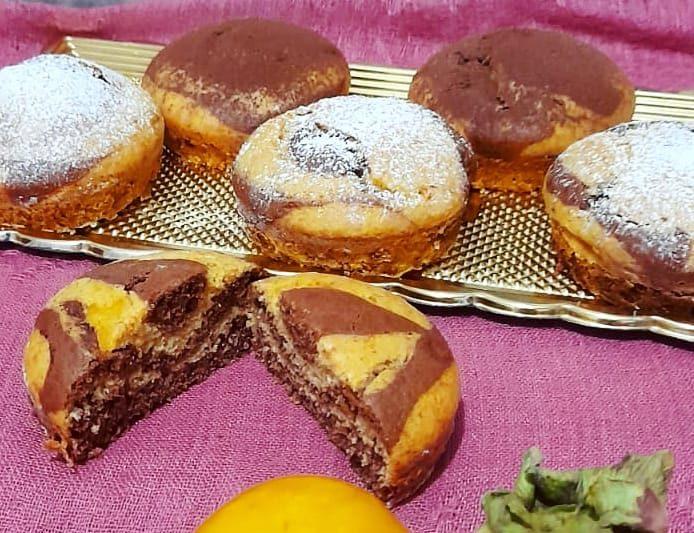 Muffin con kaki o cachi