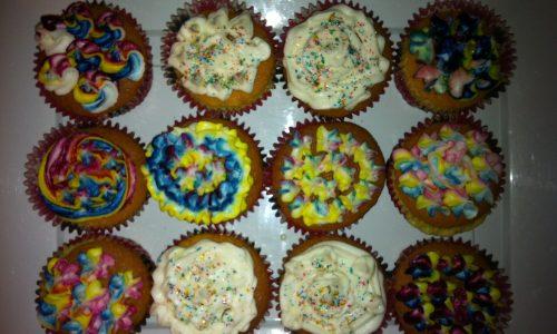 Cupcake al cocco…arcobaleno!
