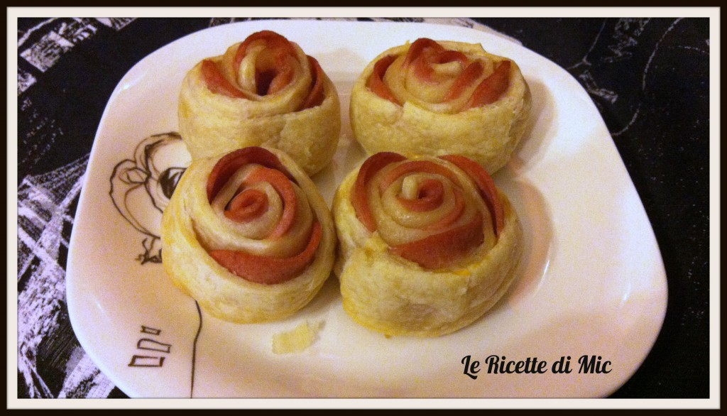Ricetta rose salate con pasta sfoglia