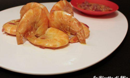 Mazzancolle all'arancia – ricetta dietetica