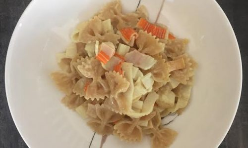 Pasta con surimi