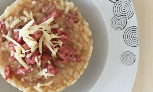 Risotto cotechino ed emmental