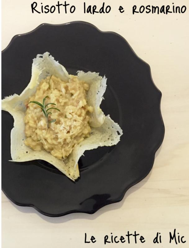 risotto lardo e rosmarino