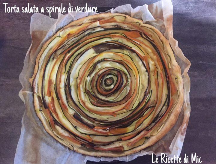 torta salata a spirale di verdure