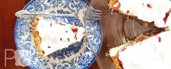 Ricetta crostata di fragole meringata | ricette dolci