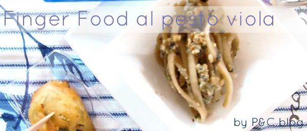 Finger food di linguine al pesto viola