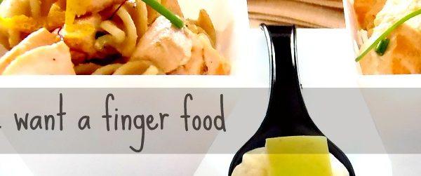 Finger food di pasta fresco estivo e leggero al salmone ed agrumi