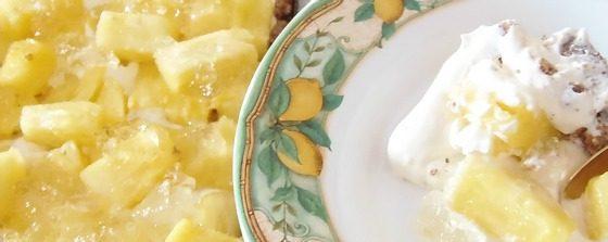 Torta fresca all'ananas e limone