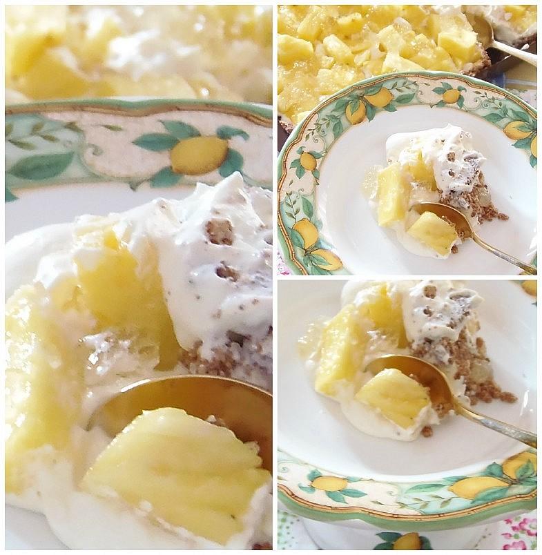 Torta fresca all'ananas e limone Torta fresca all'ananas e limone