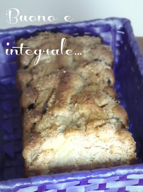 Plum cake integrale mele e cocco