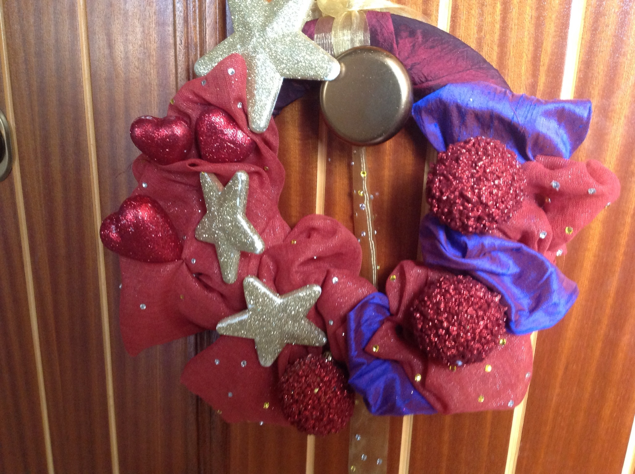 Ghirlanda di natale fai da te pane cioccolatoblog for Decorazione natalizia per porta