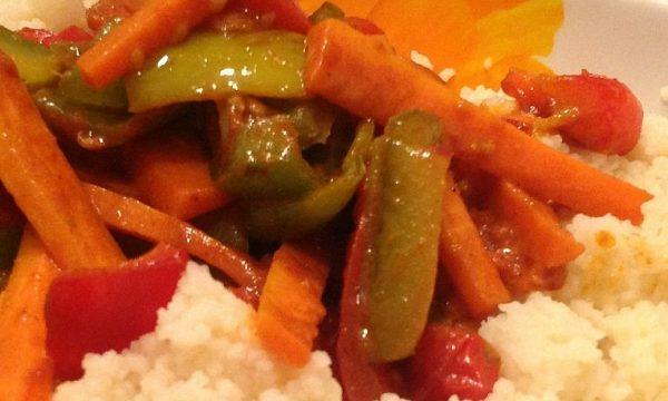 Cus cus vegetariano ,ricetta leggera