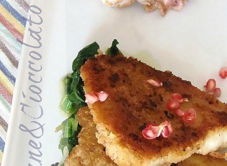 Insalata di polpo e merluzzo impanato con verdure,ricetta sana