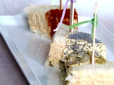 Tramezzini con crema al tonno ,ricetta monoporzione