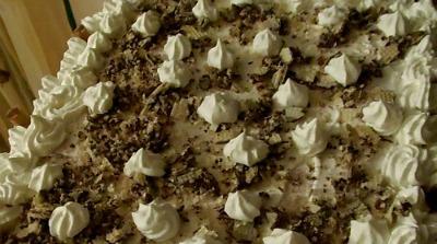 Torta Wafer al cioccolato ,ricetta golosa