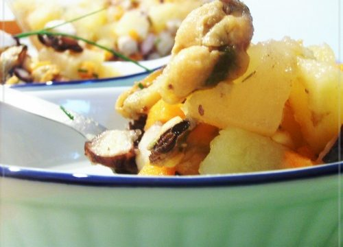 Insalata cozze polpo e patate ,ricetta veloce/semplice