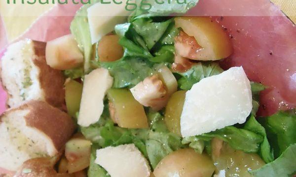 Bresaola parmigiano pomodori verdi Insalata leggera