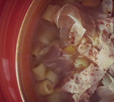 Pasta e patate con mortadella,ricetta ricca e facile