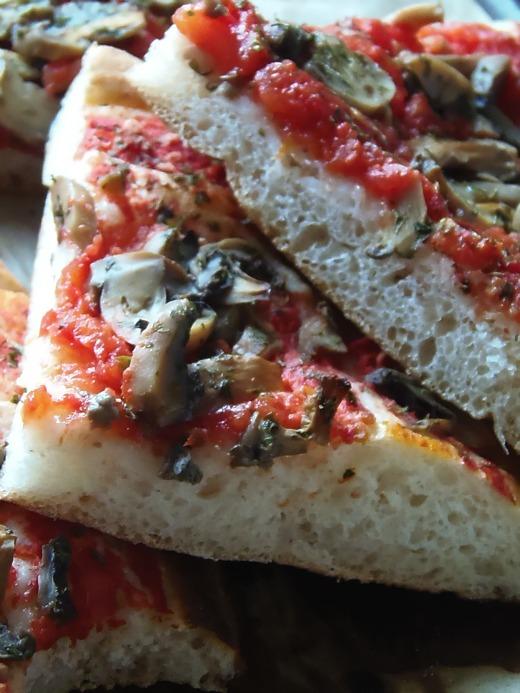 pizza in teglia a lievitazione mista