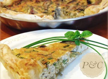 Torta salata carciofi ed erba cipollina,ricetta picnik