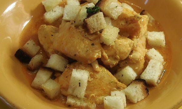 Pollo al pane aglio, olio e peperoncino, ricetta su PaneeCioccolatoblog