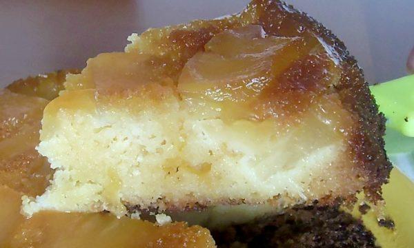 Torta Rovesciata all' Ananas, base al caramello