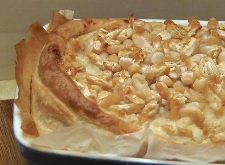 Cavolfiore Gratinato ai Fagioli in pasta sfoglia,paneecioccolato