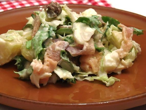 insalata salmone baccala' e patata