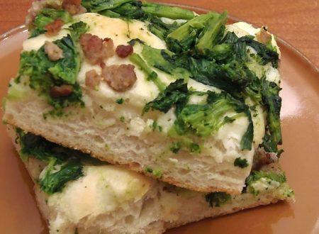 Focaccia broccoli e salsiccia ,ricetta soffice giallozafferano