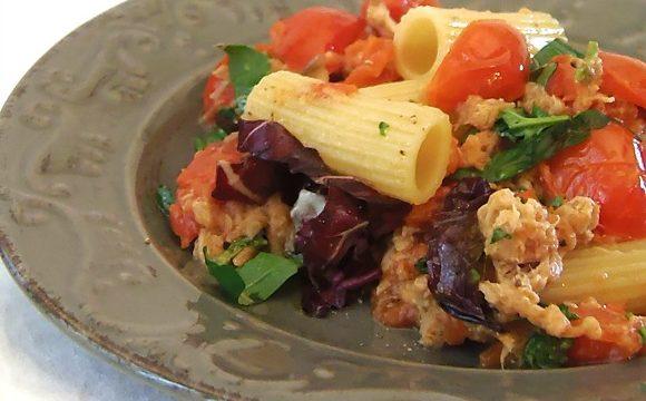 Rigatoni tonno e verdure