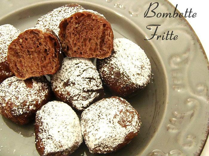 Bombette fritte al cacao