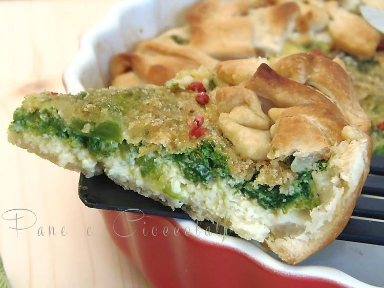 Crostata salata di Broccoli | Ricetta base pasta brisee facile