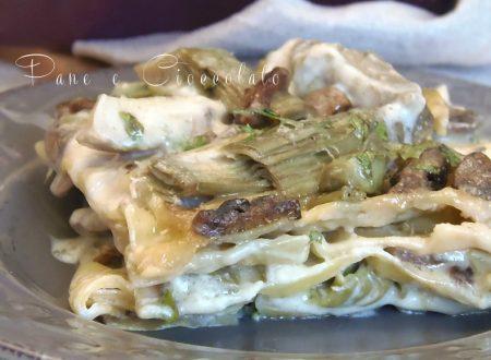 Lasagna ai carciofi e funghi  Pane e Cioccolato