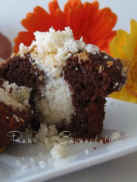Muffin alla Nutella ripieni al Cocco