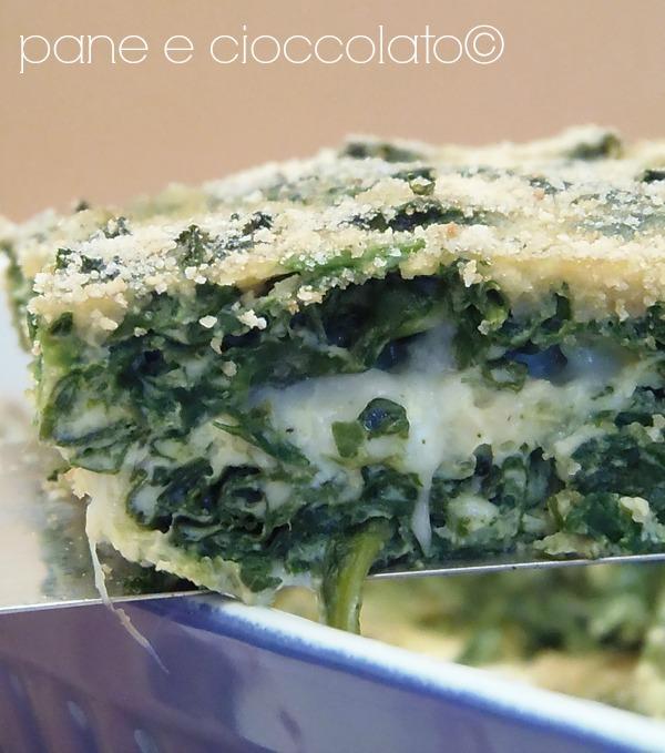 Frittata di spinaci gratinata al forno