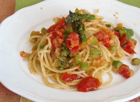 Spaghetti Sabbiosi agli asparagi | ricette con gli spaghetti