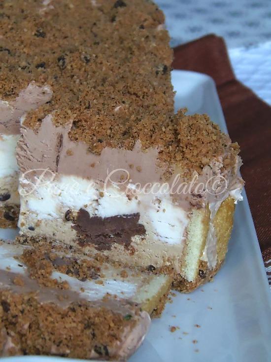 Semifreddo gelato al caffe' panna e nutella