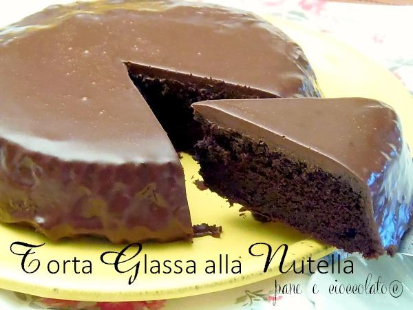 torta glassa alla nutella