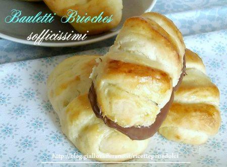 Ricetta Bauletti Brioches alla Nutella