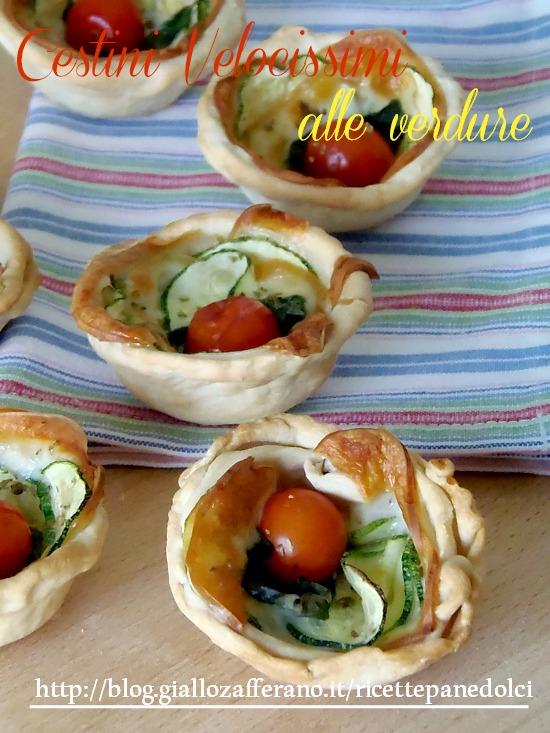 Ricette per buffet cestini alle verdure facili for Ricette con verdure