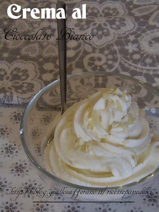Ricetta Crema al Cioccolato Bianco