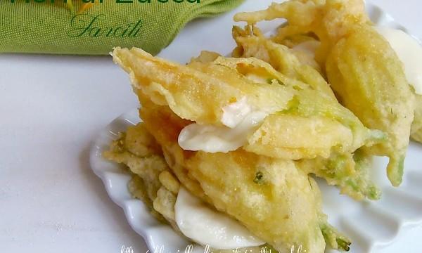 Ricetta fiori di zucca fritti farciti giallozafferano