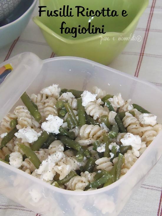 Ricetta pasta fredda con ricotta e fagiolini