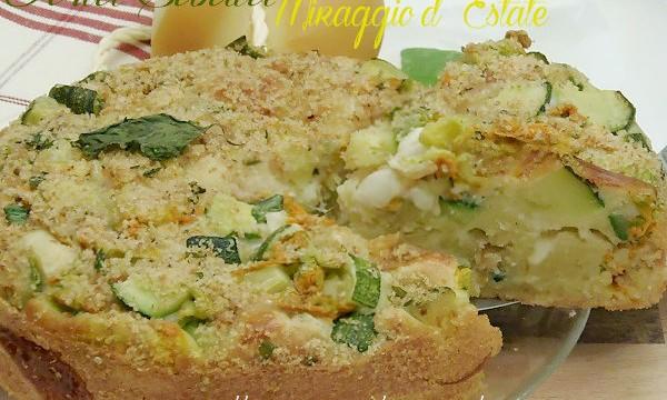 Torta Miraggio d'estate-Ricetta Torta Salata di Zucchine senza impasto