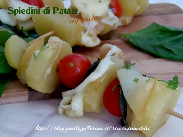 ricetta spiedini di patate