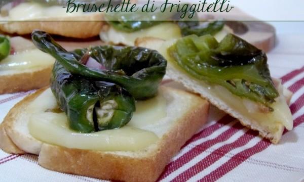 Bruschette di Friggitelli mozzarella e pancetta